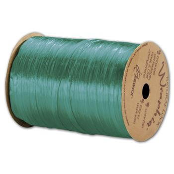 "Pearlized Wraphia Teal Ribbon, 1/4"" x 100 Yds"