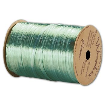 Pearlized Wraphia Emerald Ribbon, 1/4