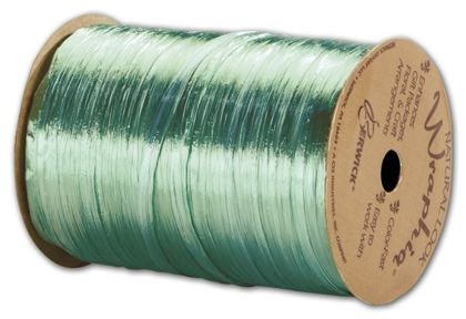 "Pearlized Wraphia Emerald Ribbon, 1/4"" x 100 Yds"