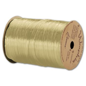 "Pearlized Wraphia Oatmeal Ribbon, 1/4"" x 100 Yds"