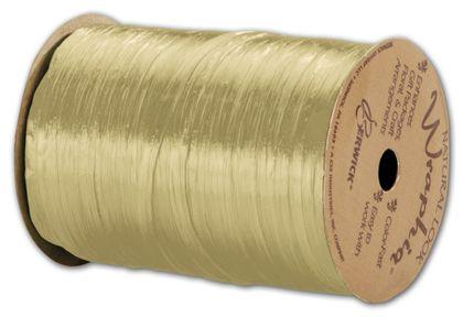"Pearlized Wraphia Oatmeal Ribbon, 1/4"" x 100 Yds"
