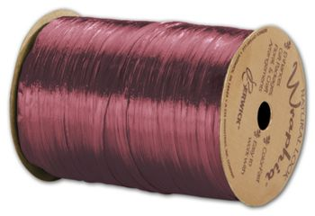 Pearlized Wraphia Burgundy Ribbon, 1/4
