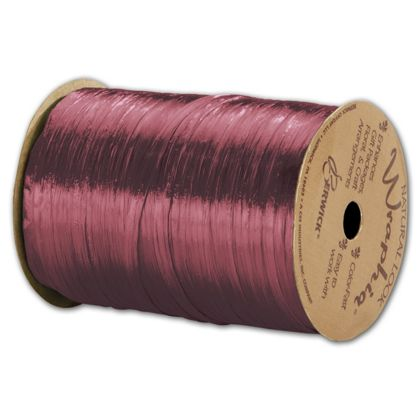 "Pearlized Wraphia Burgundy Ribbon, 1/4"" x 100 Yds"