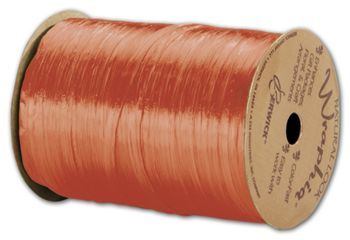 Pearlized Wraphia Orange Ribbon, 1/4