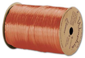 Pearlized Wraphia Orange Ribbon, 1/4