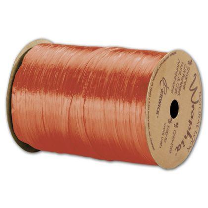 "Pearlized Wraphia Orange Ribbon, 1/4"" x 100 Yds"