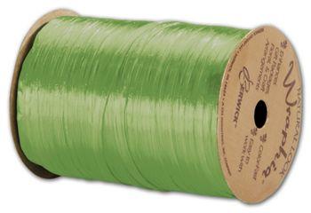 Pearlized Wraphia Celadon Ribbon, 1/4