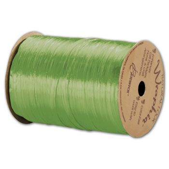 Pearlized Wraphia Celadon Ribbon, 1/4