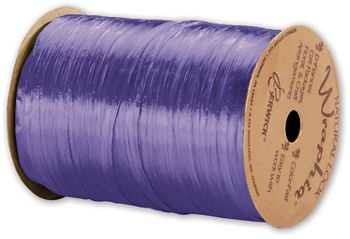 Pearlized Wraphia Violet Ribbon, 1/4