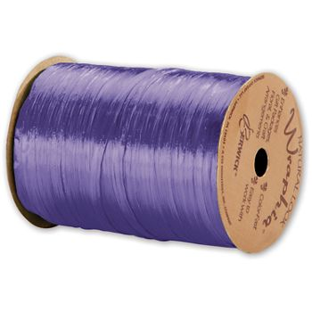Pearlized Wraphia Violet Ribbon, 1/4