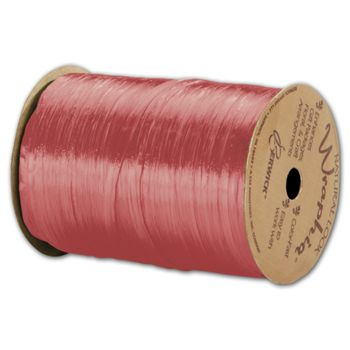 "Pearlized Wraphia Coral Ribbon, 1/4"" x 100 Yds"