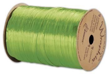 Pearlized Wraphia Apple Green Ribbon, 1/4