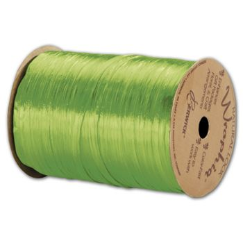 Pearlized Wraphia Apple Green Ribbon, 1/4