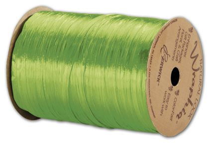 "Pearlized Wraphia Apple Green Ribbon, 1/4"" x 100 Yds"