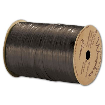 "Pearlized Wraphia Chocolate Ribbon, 1/4"" x 100 Yds"