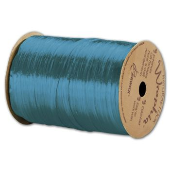 Pearlized Wraphia Aqua Ribbon, 1/4