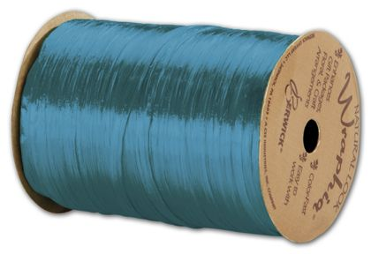 "Pearlized Wraphia Aqua Ribbon, 1/4"" x 100 Yds"