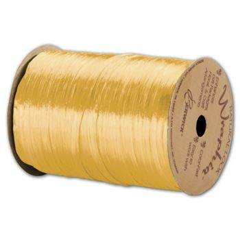 Pearlized Wraphia Daffodil Ribbon, 1/4