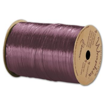 "Pearlized Wraphia Wine Ribbon, 1/4"" x 100 Yds"