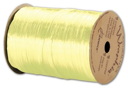 "Pearlized Wraphia Light Yellow Ribbon, 1/4"" x 100 Yds"