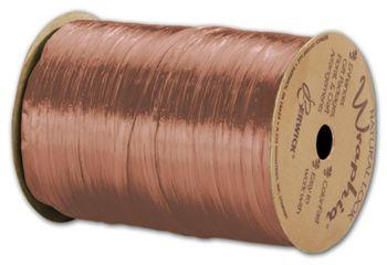 Pearlized Wraphia Terra Cotta Ribbon, 1/4
