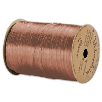 Pearlized Wraphia Terra Cotta Ribbon, 1/4