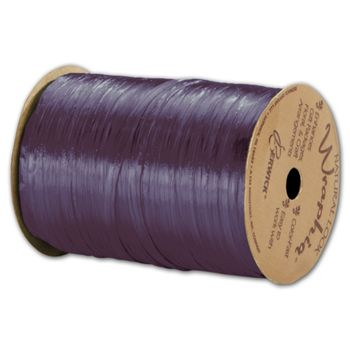 Pearlized Wraphia Plum Ribbon, 1/4