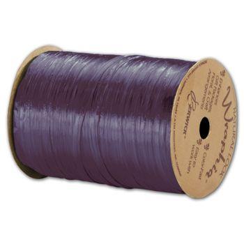 Pearlized Wraphia Plum Ribbon, 1/4