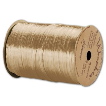 "Pearlized Wraphia Ivory Ribbon, 1/4"" x 100 Yds"
