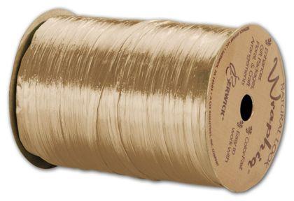 "Pearlized Wraphia Ivory Ribbon, 1/4"" x 100 Yds"