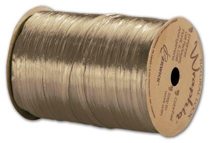 "Pearlized Wraphia Kraft Ribbon, 1/4"" x 100 Yds"