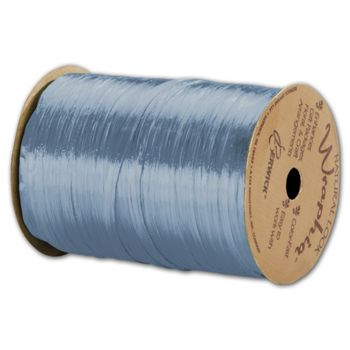 Pearlized Wraphia Williamsburg Blue Ribbon,1/4x100 Yds
