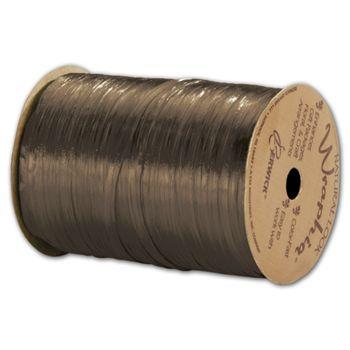 Pearlized Wraphia Milk Chocolate Ribbon, 1/4