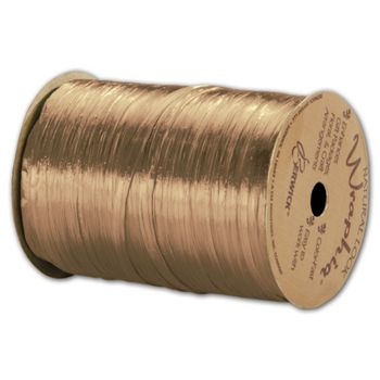 "Pearlized Wraphia Gold Ribbon, 1/4""x100 Yds"