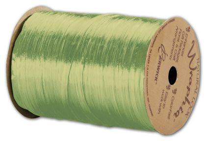 "Pearlized Wraphia Chartreuse Ribbon, 1/4"" x 100 Yds"