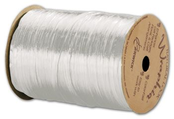 Pearlized Wraphia White Ribbon, 1/4