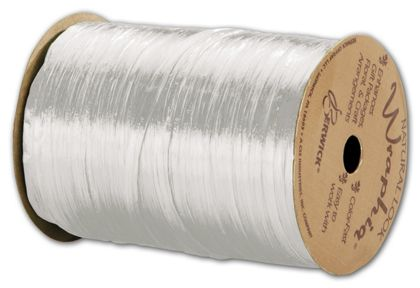 "Pearlized Wraphia White Ribbon, 1/4"" x 100 Yds"