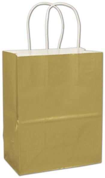 Metallic Gold High Gloss Paper Shoppers