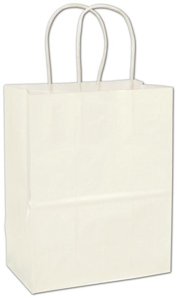 White High Gloss Paper Shoppers
