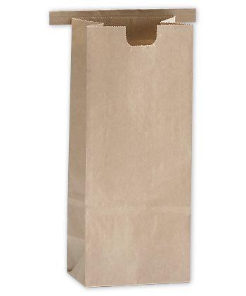 Kraft Tin-Tie Bags, 3 3/8 x 2 1/2 x 7 3/4