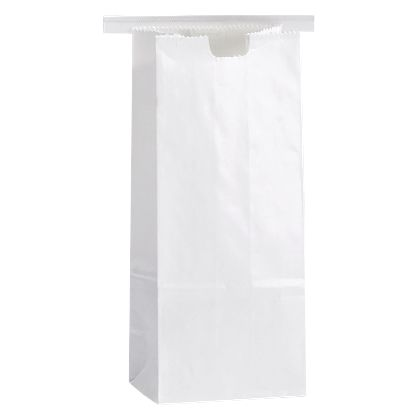 White Tin-Tie Bags, 3 3/8 x 2 1/2 x 7 3/4