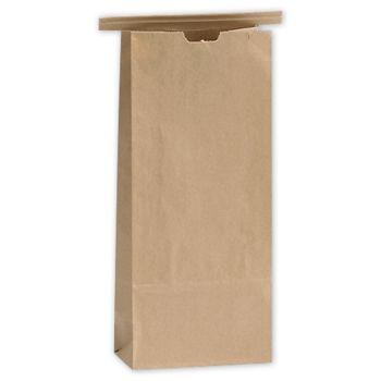 Kraft Tin-Tie Bags, 4 1/4 x 2 1/2 x 9 3/4
