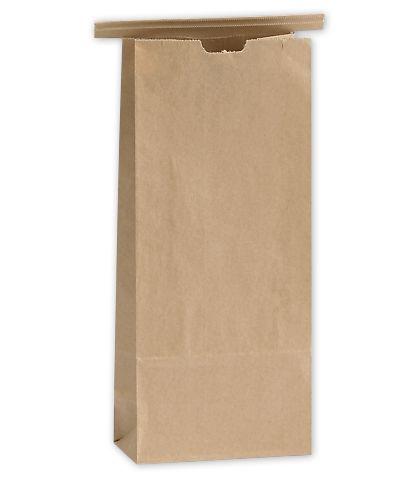 "Kraft Tin-Tie Bags, 4 1/4 x 2 1/2 x 9 3/4"""