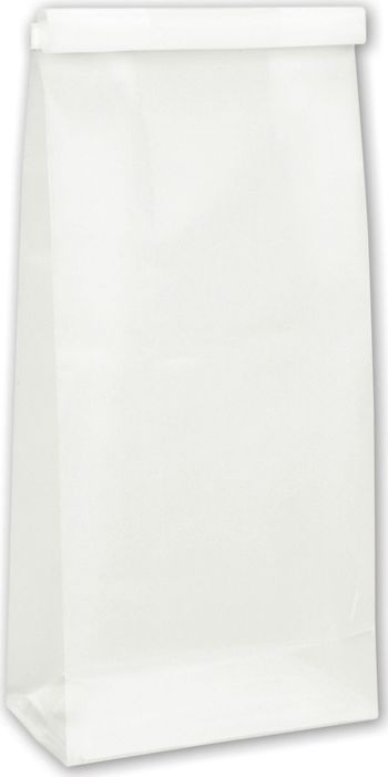 Clear Frosted Tin-Tie Bags, 4 1/4 x 2 1/2 x 9 3/4
