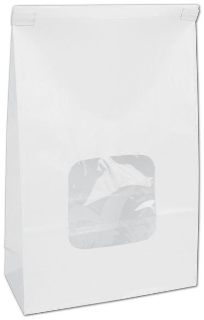"""White Tin-Tie Bags w/ Windows, 6 x 2 3/4 x 9 1/2"""""""
