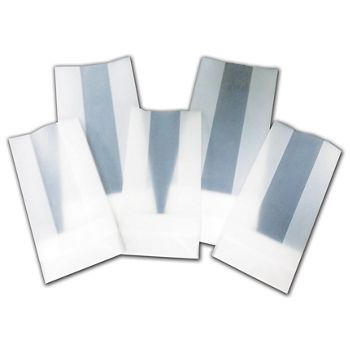 """Clear Frosted Poly Gift Bags, 3 1/2 x 2 x 7"""""""