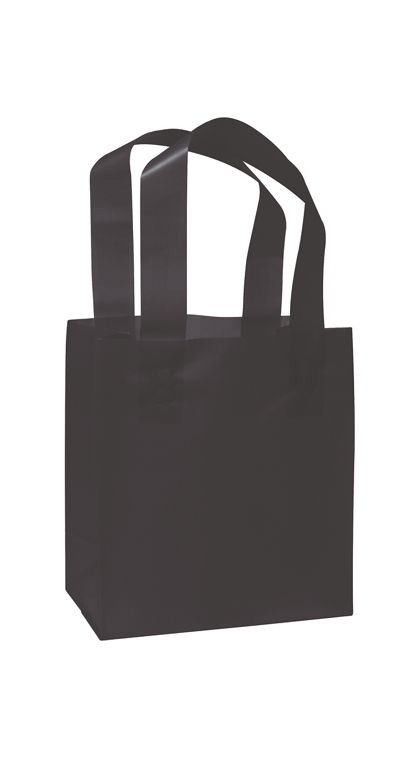 Black Frosted High Density Shoppers, 6 1/2 x 3 1/ 2x 6 1/2