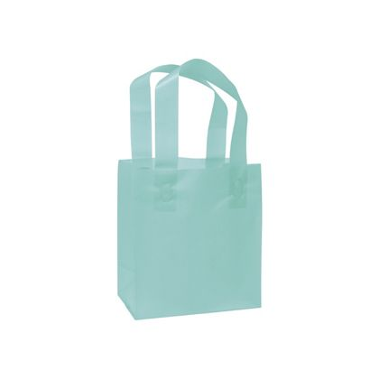 Turquoise Frosted High Density Shoppers