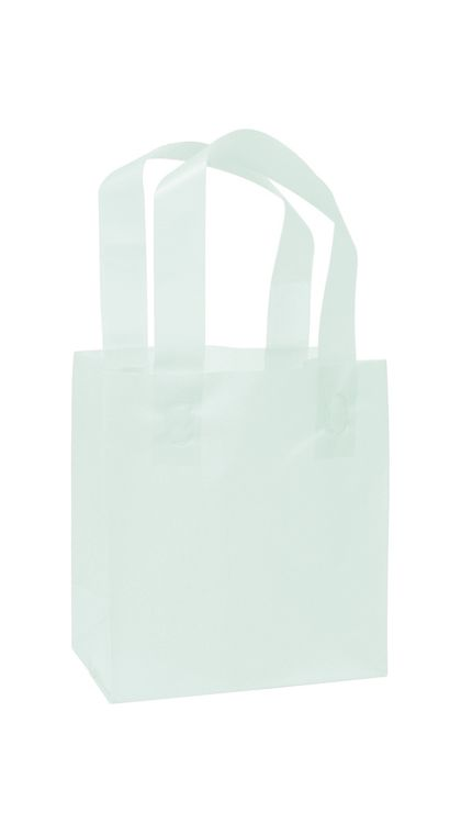 Ocean Frosted High Density Shoppers, 6 1/2 x 3 1/2 x 6 1/2