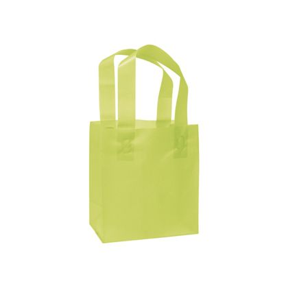 Lime Green Frosted High Density Shoppers